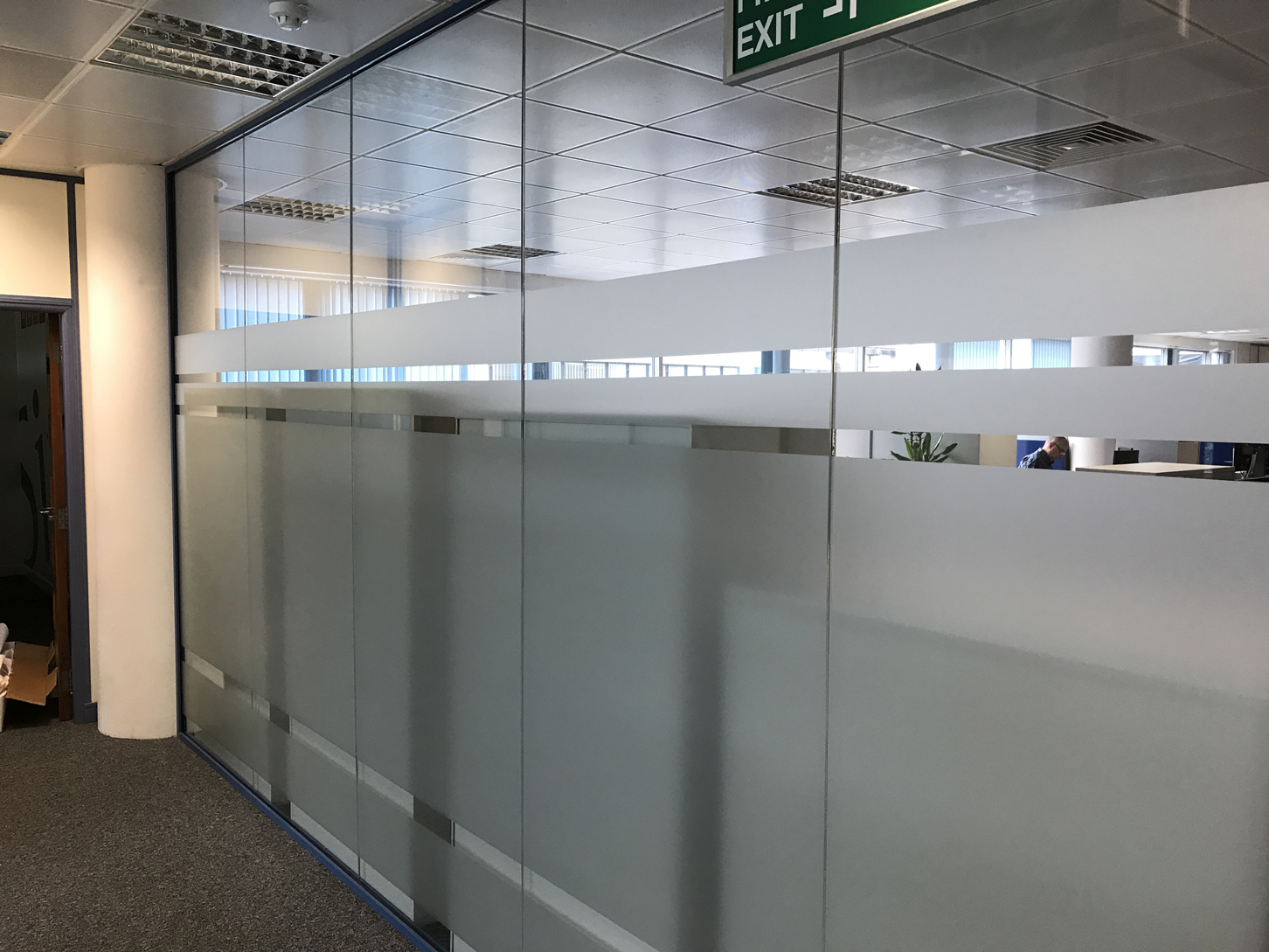 office glass frosting. Sintons Glazed Screen Office Glass Frosting R